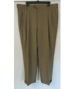 Loro Piana Zanella Brown Pleated Tasmania Pants Super 130s Bennett Wool ... - $98.99
