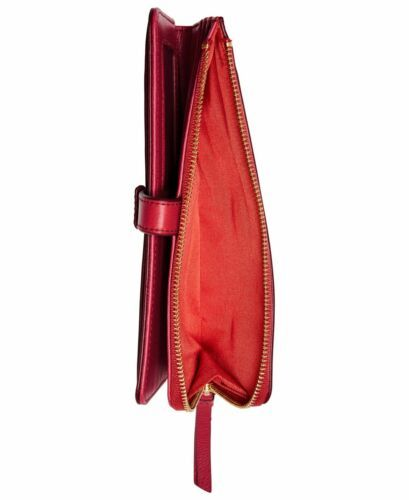 Fossil Women Fiona Leather Tab Wallet (Bright Red) image 2