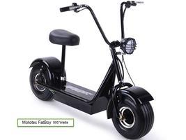 Electric Scooter MotoTec FatBoy 48 Volts 500 Watt Fat Tire Transporter image 1