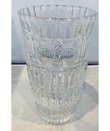 """Beautiful vintage crystal vase 10"""" tall x 5 1/8"""" tall heavy flower vase - $85.00"""