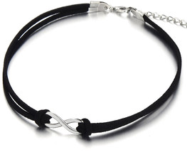 COOLSTEELANDBEYOND Ladies Womens Girls Black Choker Necklace with Small ... - $34.75