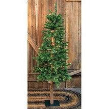 Country PRE-LIT ALPINE ARTIFICIAL CHRISTMAS TREE Primitive Holiday - 5ft. - $171.99