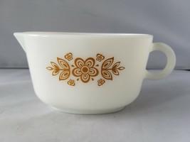 Vintage Corelle Corning Ware Sauce Boat Gravy Cream Butterfly Gold Pattern - $30.49