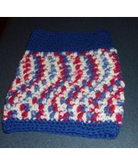 Brand New Hand Crocheted Red White Blue Patriotic Dog Snood Neck Warmer ... - $12.74