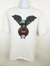 Harley Davidson Ride For Life Charity T-shirt White Size XL Eagle - $26.72