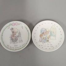 Precious Moments Vintage Religious porcelain plate set 1989 1991 Collect... - $24.00