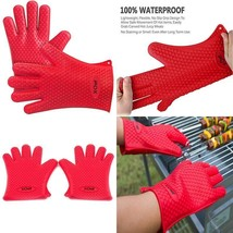 X-Chef Heat Resistant Silicone Gloves, Food Grade Heat Insulated Oven Mi... - $16.30