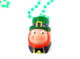 Leprechaun Head St Patrick's Day Mardi Gras Bead Necklace Beads Rubber - €4,28 EUR
