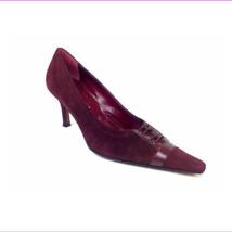 "Versani Womens Heels ""Camosci"" Color Burgundy Size 7.5 B - $45.09"