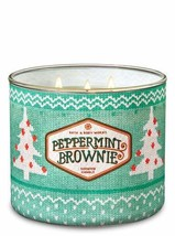 White Barn Bath & Body Works 3 Wick Candle Peppermint Brownie - $29.65