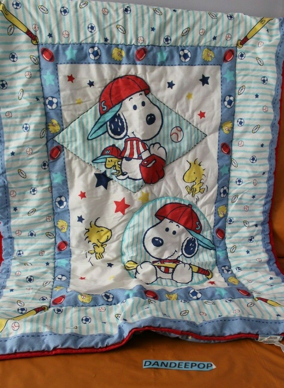 Primary image for Lambs & Ivy Baby Little Snoopy Woodstock Crib Blanket Comforter 35 x 44