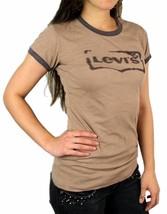 Levi's Women's Premium Classic Graphic Cotton T-Shirt Shirt Tee Brown image 2