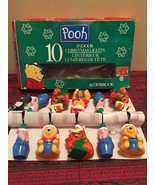 NEW Vintage Set Of 10 Christmas Winnie The Pooh & Friends Novelty Lights - $39.59