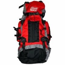 Coleman MAX 65L Internal Frame XLarge Hiking Backpack 65L Black Red  - $51.56