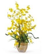 Nearly Natural 1005-YL Dancing Lady Silk Orchid Arrangement, Yellow - $61.33