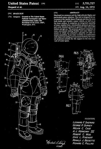 Primary image for 1973 - NASA Space Suit - Shepard et al - Patent Art Poster