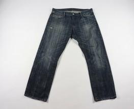 Ralph Lauren Denim Supply Mens 36x30 Straight Leg Spell Out Denim Jeans ... - $44.50