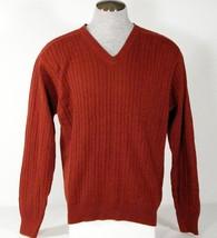Izod V Neck Dark Red Cotton Knit Sweater Men's NWT - $44.99
