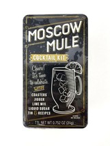 The Moscow Mule Cocktail Kit Coasters Jigger, Lime Mix Liquid Sugar Tin ... - $16.82