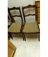 1950's Set of 2 Antique Vintage Duncan Phyfe Roseback Accent Side Chairs - $396.00