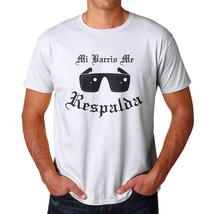 Mi Barrio Me Respalda Men's White T-shirt - $9.89+