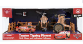 Disney Parks Cars Land Tractor Tipping Playset with Mater and Lighting M... - $36.00