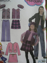 Simplicity 4895 Child's and Girls Jacket, Vest, Pants and Skirt  Size 7-8-10-12- - $10.00