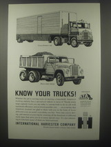 1963 International Harvester Long-Distance Van and Heavy-Duty Dump Truck Ad - $14.99