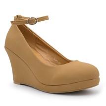 Top Moda Soap-1 Wedges Pumps-Shoes Soap-35 Tan ... - $36.87