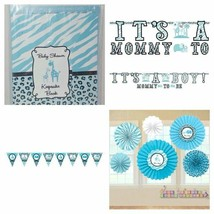 It's A Boy Safari Theme Baby Shower Decorations: Banner, Fans, Pennant B... - $6.97+
