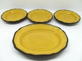 Mikasa Italian Terrace Three Lemon Grove 6 1/4' Saucers@ 1 Gravy Boat Un... - $28.42