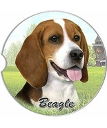 Beagle Car Coaster Absorbent Keep Cup Holder Dry Stoneware New Dog Pet  - $10.88