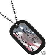USAF AIR FORCE MOM  ENGRAVABLE  MILITARY  DOG TAG - $18.04