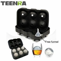 1PCS Large Size 6 Cell Ice Ball Mold Silicone Ice Cube Ball Tray Whiskey Ice Bal - $9.60