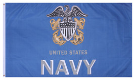 US Navy Anchor Flag 3D Emblem Indoor Outdoor Flag 3 x 5 Feet - $10.99