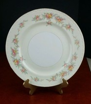 "dinner plate Georgian Homer Laughlin eggshell 10"" floral 1955 vintage antique - $9.50"