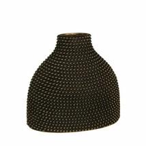 "Upscale & Modern Ceramic 14"" Beaded Vase, Black/Gold - $161.92"