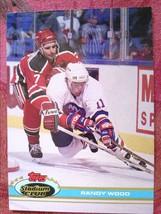 ICE  HOCKEY  TOPPS 1991  #221   RANDY   WOOD - $0.99