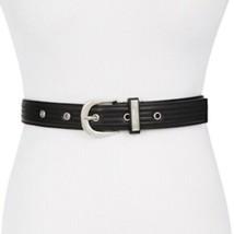 Steve Madden Trapunto Stitch Belt Size Small Black New - $17.93