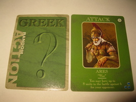2003 Age of Mythology Board Game Piece: Greek Random Card - Attack - Ares - $1.00
