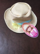 My Life Straw Fedora Hat Fits American 18 Inch Girl Doll - $16.82
