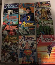Action Comic #598 - 607 Superman DC Comic Book Lot VF Condition 1987-88 - $13.49