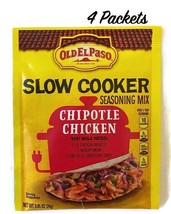 Old El Paso Slow Cooker Seasoning Mix Chipotle Chicken 4 Packets Best By... - $13.36