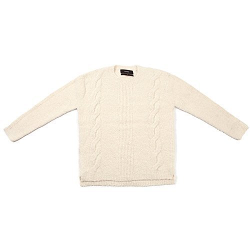 STAMPD Men's Cable Knit Alpaca Sweater SLA-M769SW-CRM Cream SZ XL
