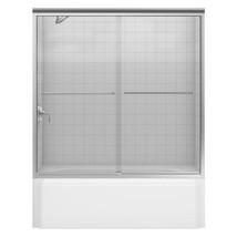 KOHLER Bathtub Door 59-5/8 in. x 58-5/16 in. Semi-Frameless Brushed Nickel - $1,086.24