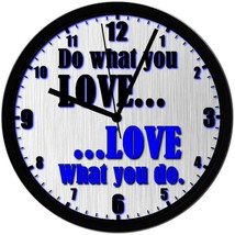 """Do What You LOVE..."" EXCLUSIVE! 8"" Homemade Wall Clock Blue, Free Shipp... - $23.97"