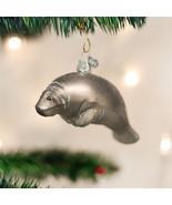 Manatee Glass Ornament - $19.95