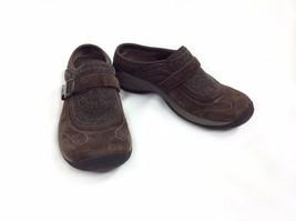 Merrell Encore Sidestep Dark Brown Mule Shoe Slip On Womens 7.5 Suede J6... - $23.36