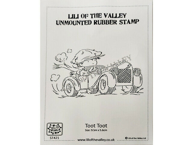 """Lili of the Valley Unmounted Rubber Stamp """"Toot Toot"""" #ST421"""