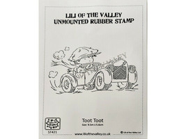 """Lili of the Valley Unmounted Rubber Stamp """"Toot Toot"""" #ST421 image 1"""